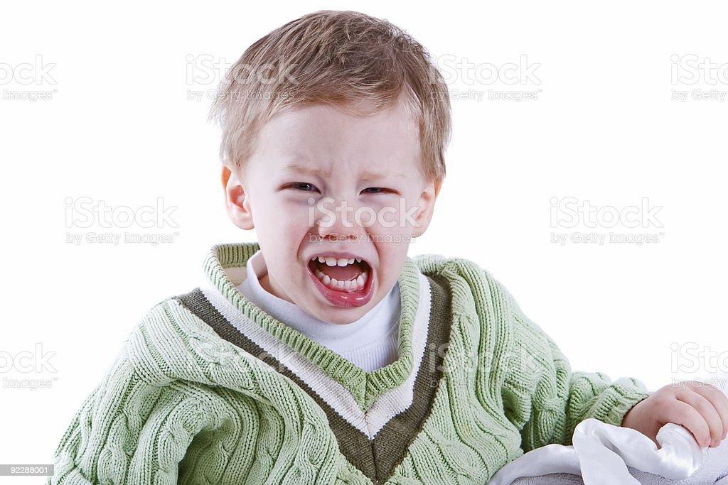 Toddler rage royalty-free stock photo