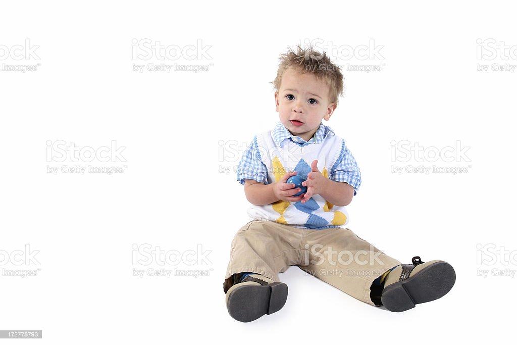Toddler sitting royalty-free stock photo