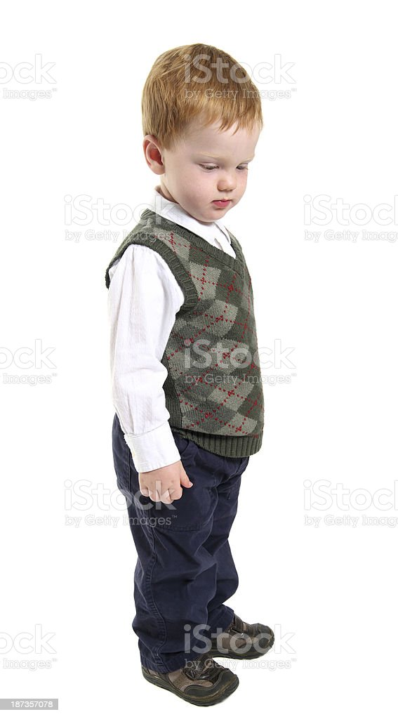 Toddler Standing stock photo