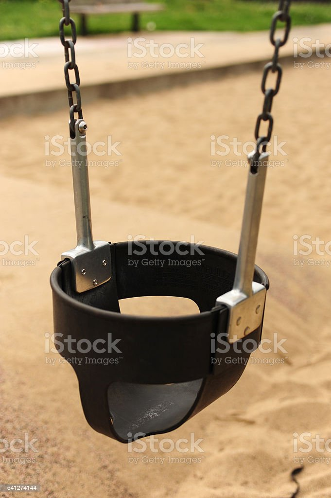 Toddler Swing stock photo