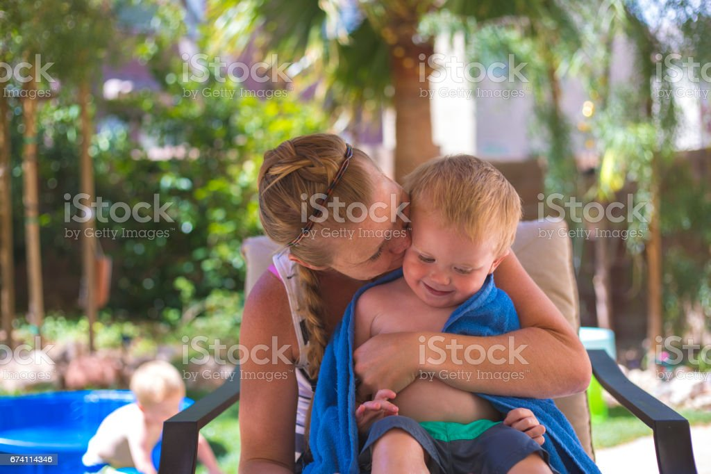 Toddler with his Mother 免版稅 stock photo