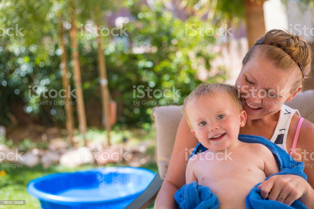 Toddler with his Mother royalty-free stock photo