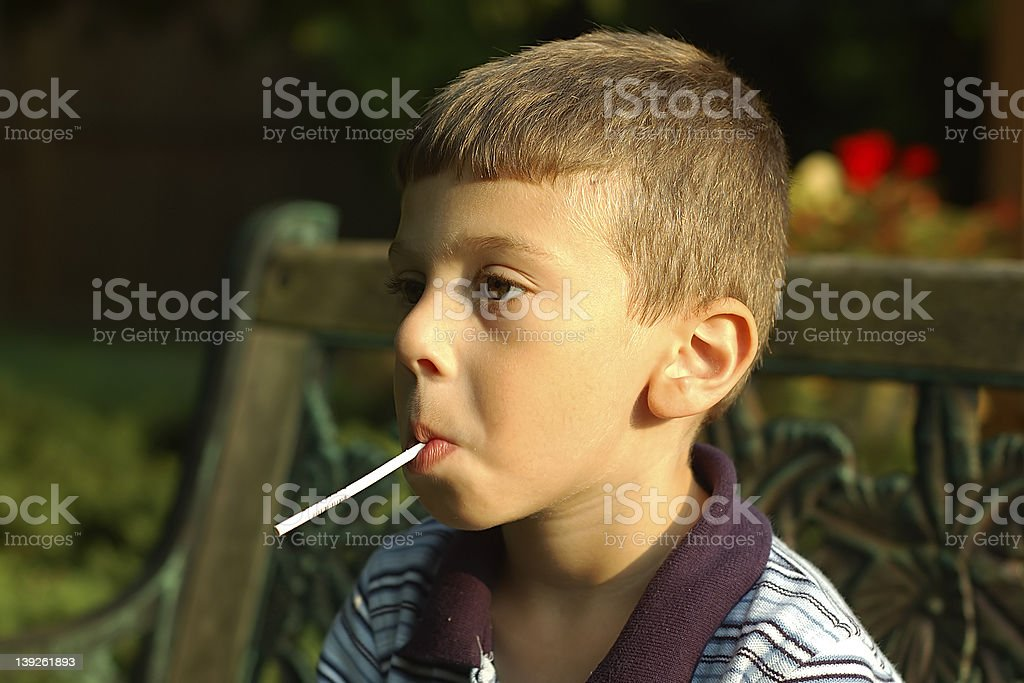 Toddler With Lollipop royalty-free stock photo