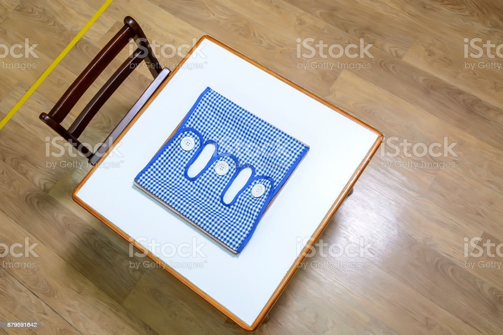 Toddlers' Desk and Chair stock photo