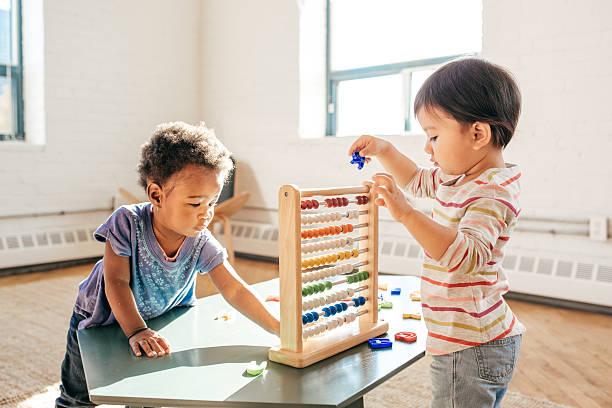 Toddlers in kindergarten - foto stock