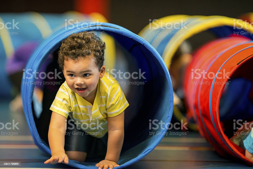 Toddlers Playing royalty-free stock photo