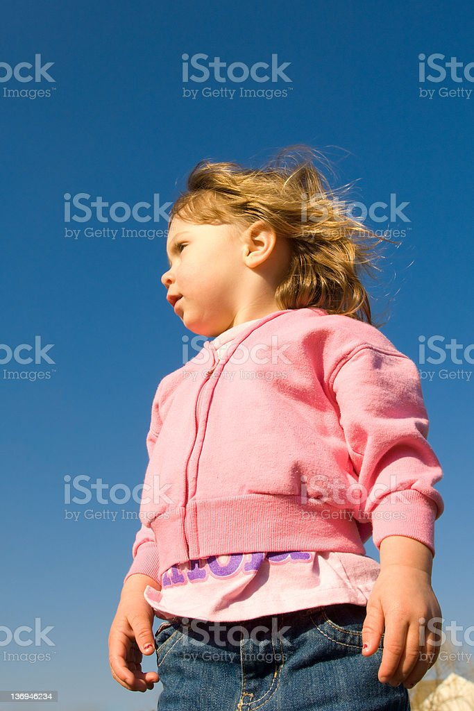 Toddlers Rock Star Portrait royalty-free stock photo