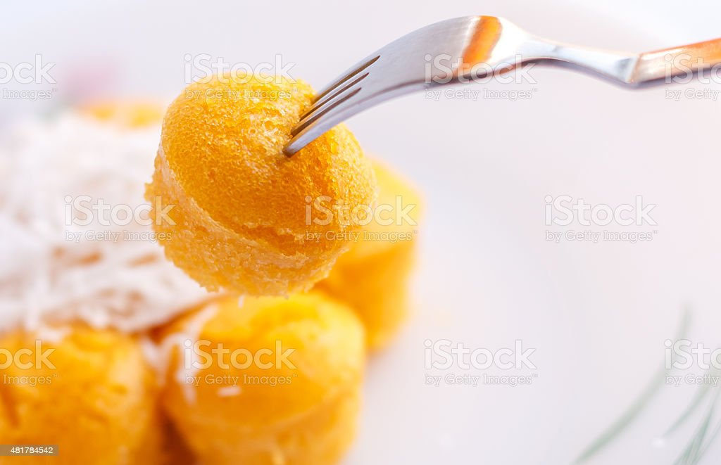 Toddy Palm Cake, Close up. stock photo