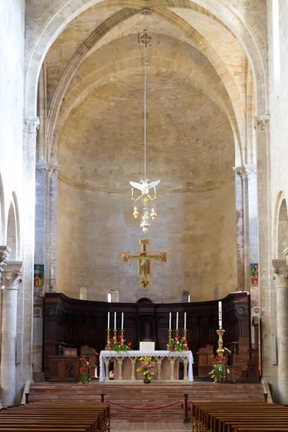 Todi, Umbria, Italy: Todi Cathedral Interior Apse stock photo