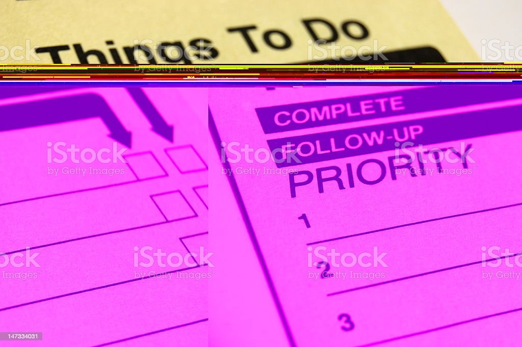 A to-do list and a follow up list royalty-free stock photo