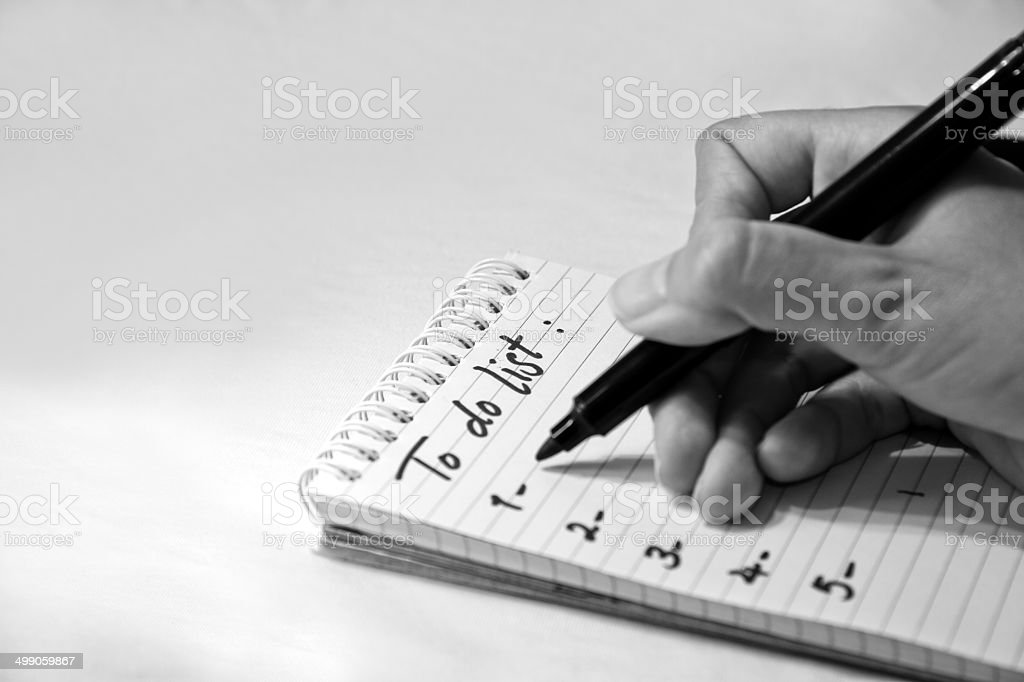 To-do List stock photo
