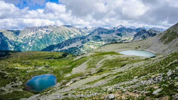 Todorini ochi (Eyes of Todora) Lakes in Pirin Mountain, Bulgaria stock photo