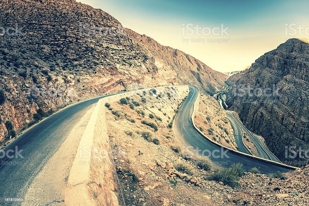 Todra Gorge in Morocco, Africa royalty-free stock photo