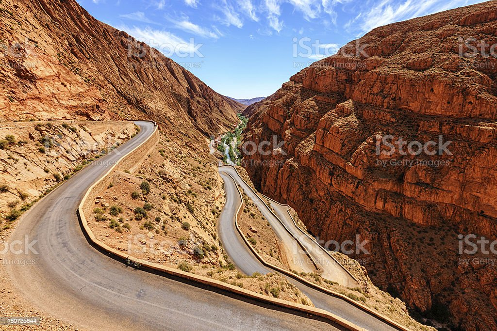 Todra Gorge, Morocco, Africa stock photo