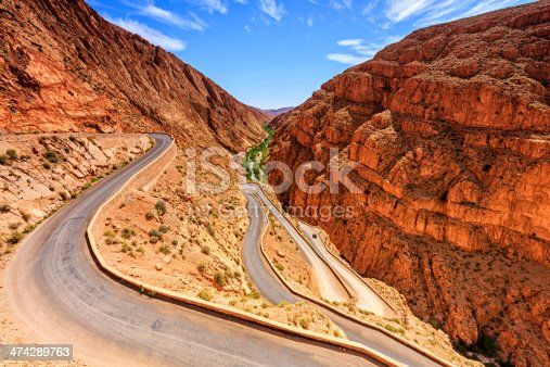 Todra Gorge  is a canyon in the eastern part of the High Atlas Mountains in Morocco. It is a popular tourist destination in Morocco.http://bem.2be.pl/IS/morocco_380.jpg
