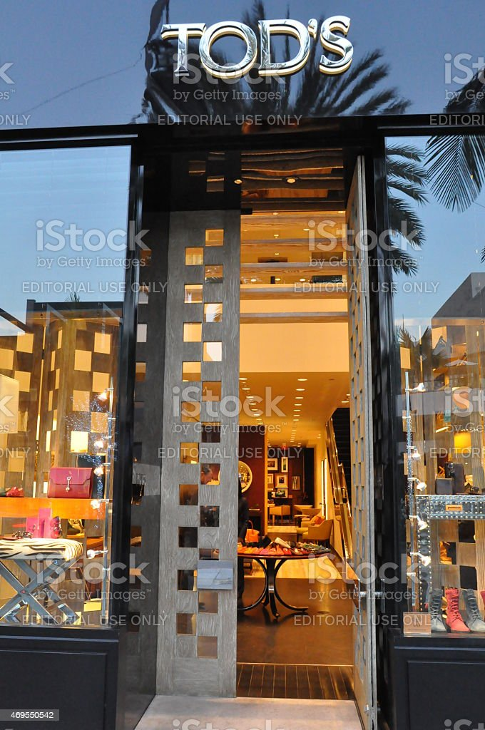 Tod's store at Rodeo Drive in Beverly Hills, California stock photo