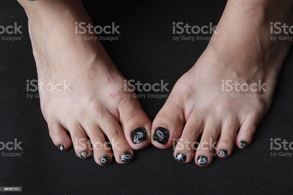 Unghia del piede foto stock royalty-free