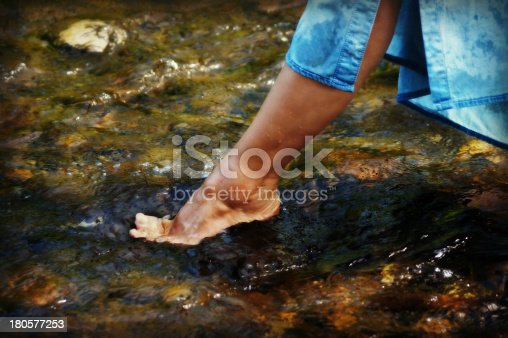 522909925 istock photo Toes dipping in water 180577253