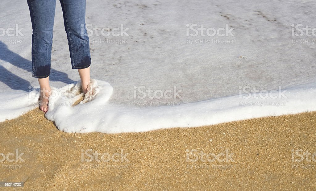 Toes in the Sand royalty-free stock photo
