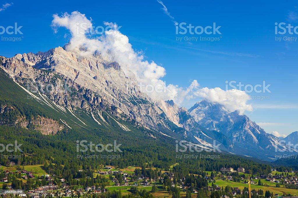 Tofana di Rozes, Dolomiti Mountains royalty-free stock photo