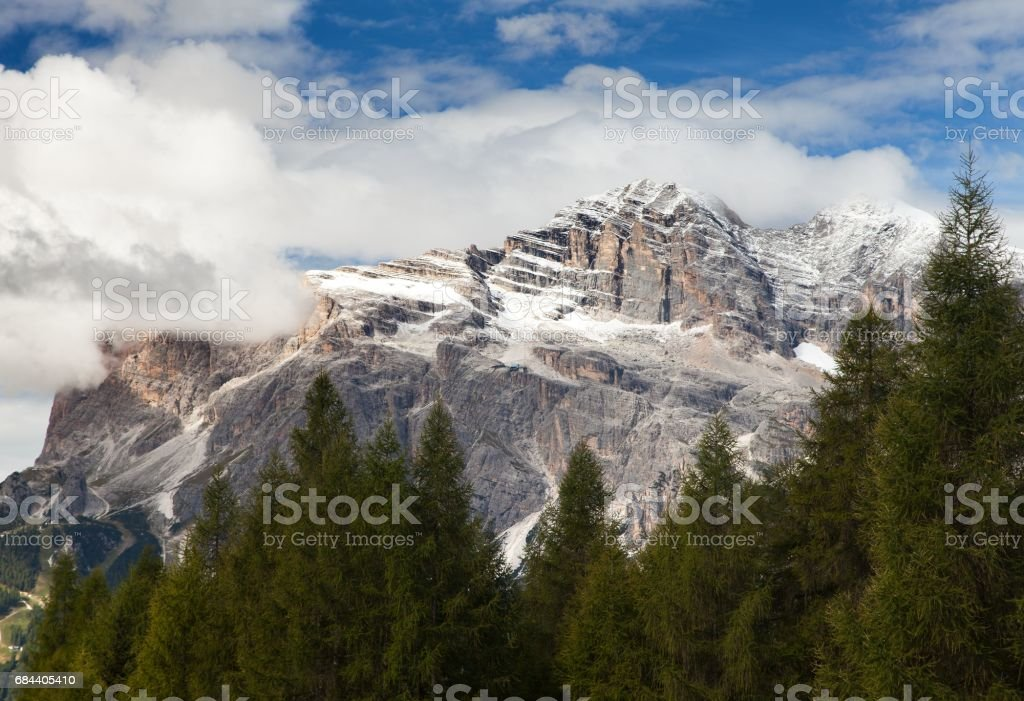 Tofana or Le Tofane gruppe, Dolomites, Italy stock photo