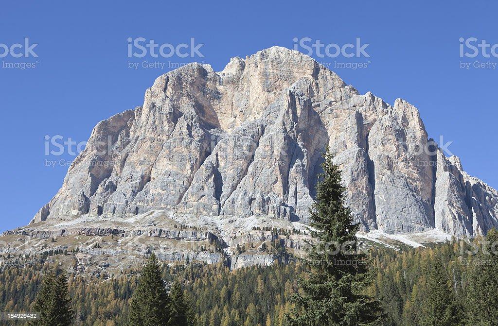 Tofane mountain group, Dolomites Veneto Italy stock photo