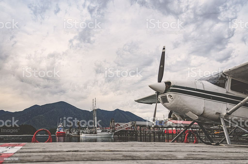 Tofino Seaplane stock photo