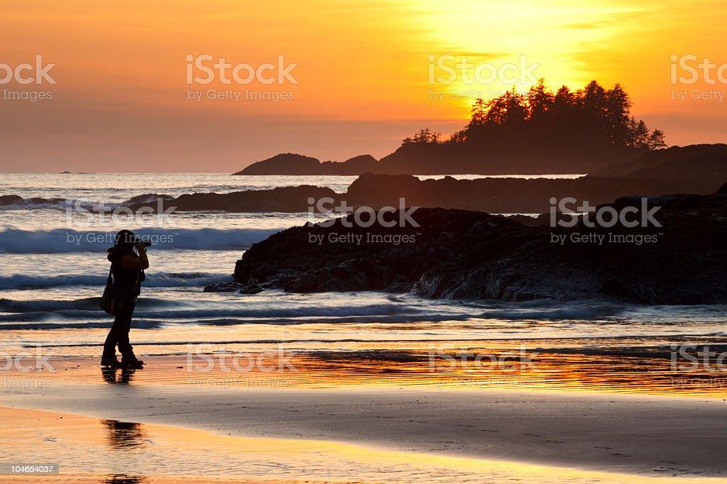Tofino Sunset stock photo