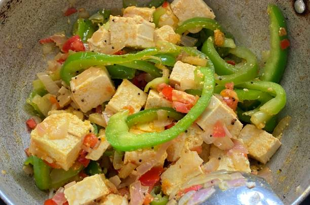 Tofu and Capsicum