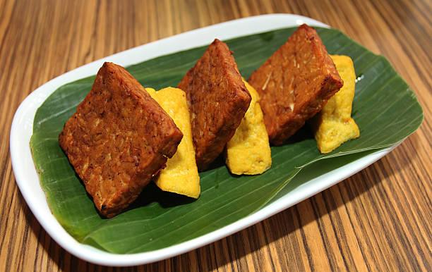 tofu and tempeh stock photo
