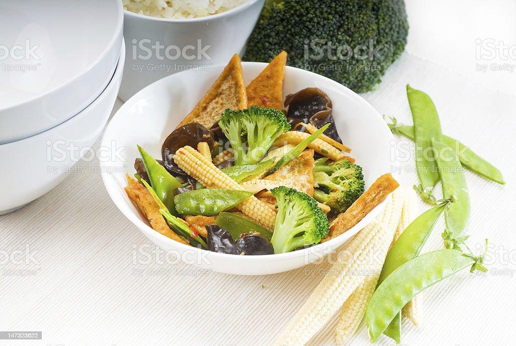 tofu beancurd y verduras - foto de stock