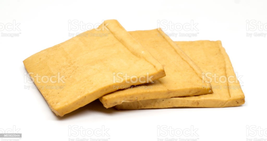 Tofu isolated on white - Royalty-free Bean Stock Photo