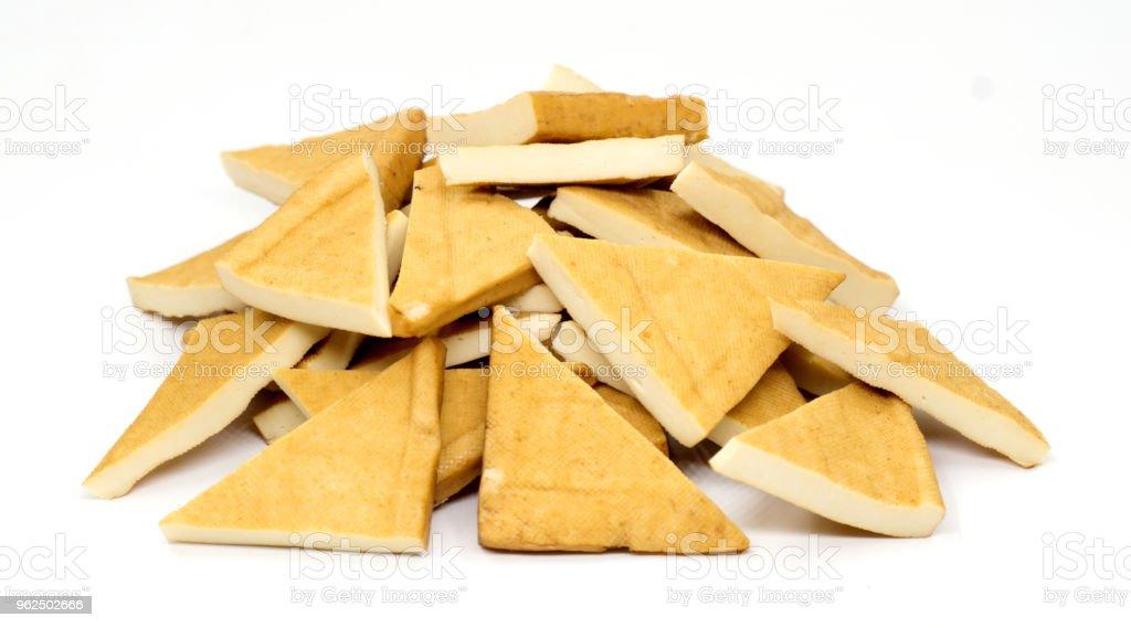 Tofu isolada no branco - Foto de stock de Alimentação Saudável royalty-free