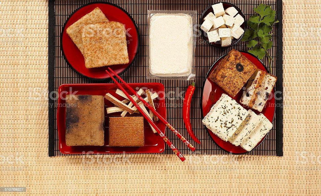 tofu products stock photo