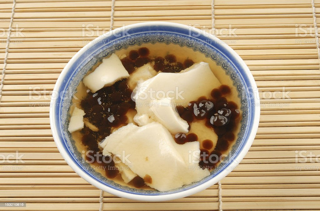 Tofu pudding with tapioca ball royalty-free stock photo