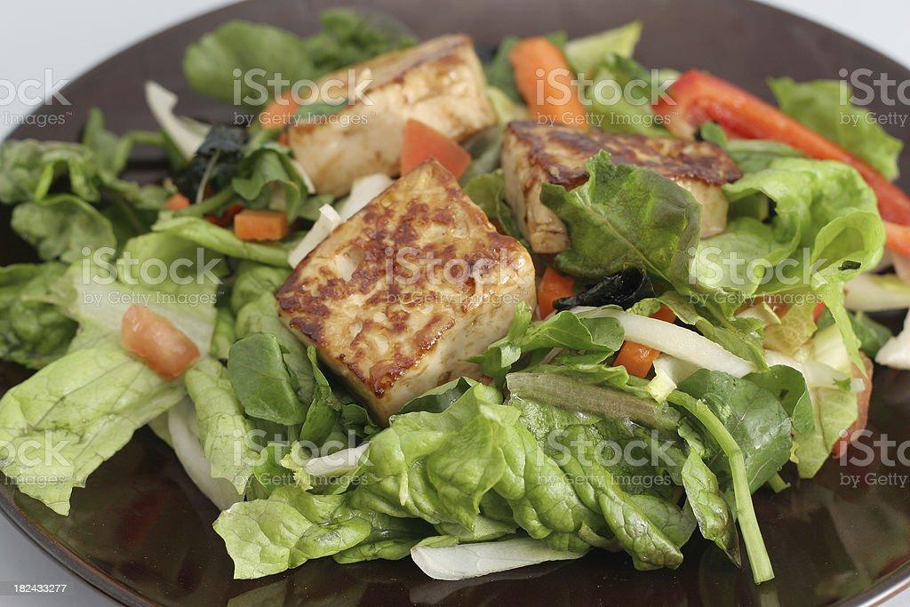 Tofu Salad Plate royalty-free stock photo