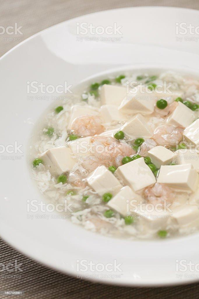 Tofu with Shrimps royalty-free stock photo