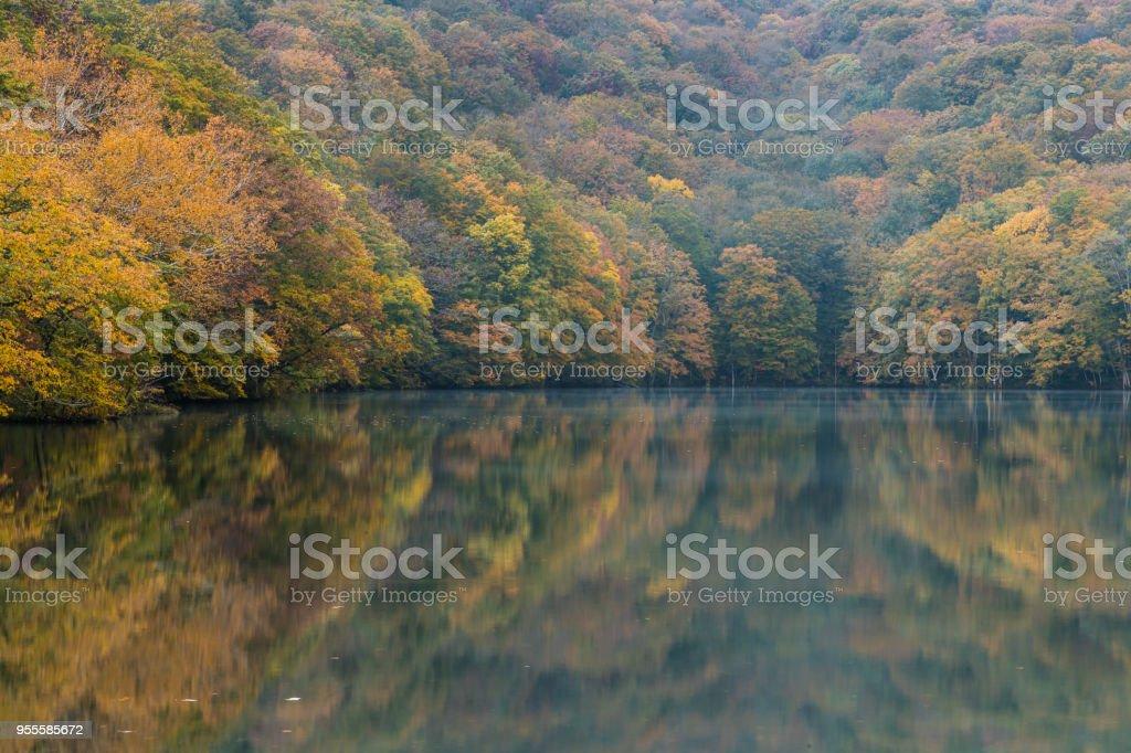 Togakushi's Lake stock photo