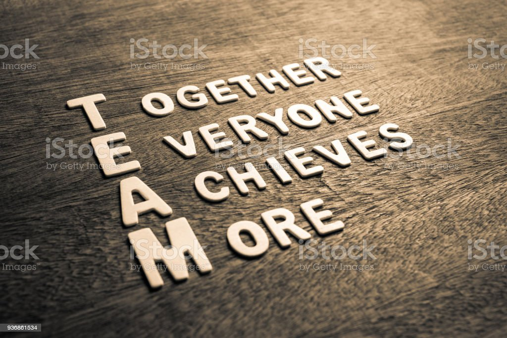 Together Everyone Achieves More stock photo