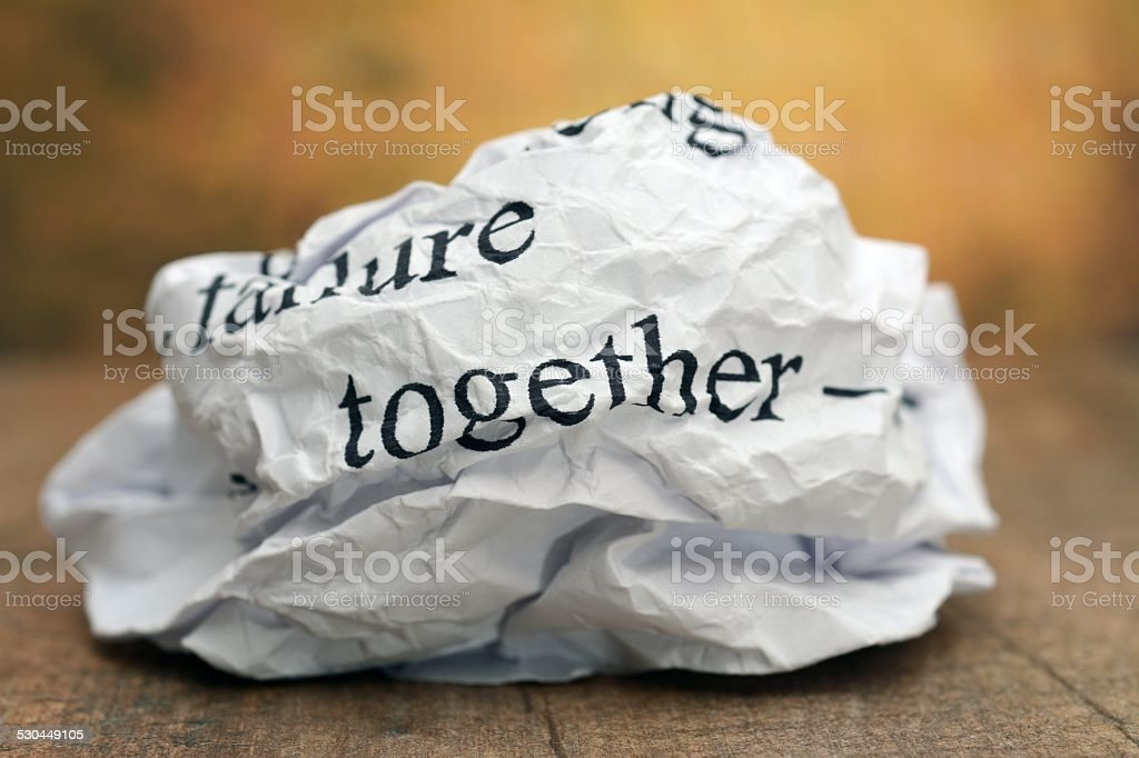 Together failure  concept stock photo