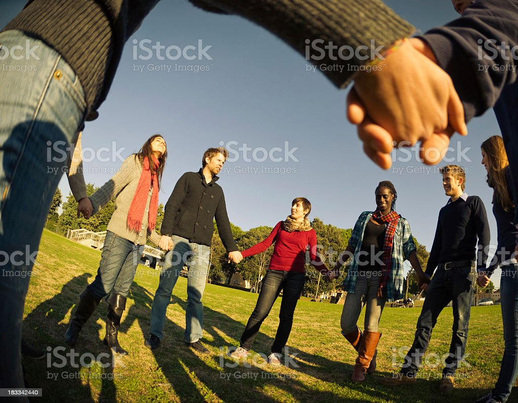Together for a common idea , bonding royalty-free stock photo