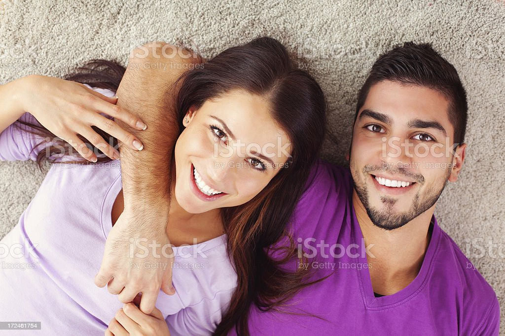 Together in our new place royalty-free stock photo
