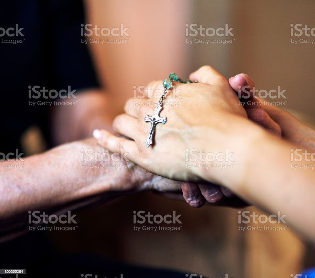 Together in prayer stock photo