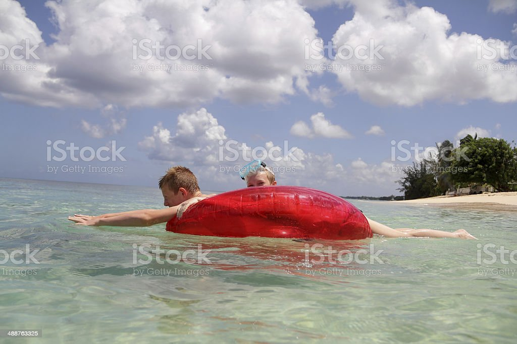 together in the sea stock photo