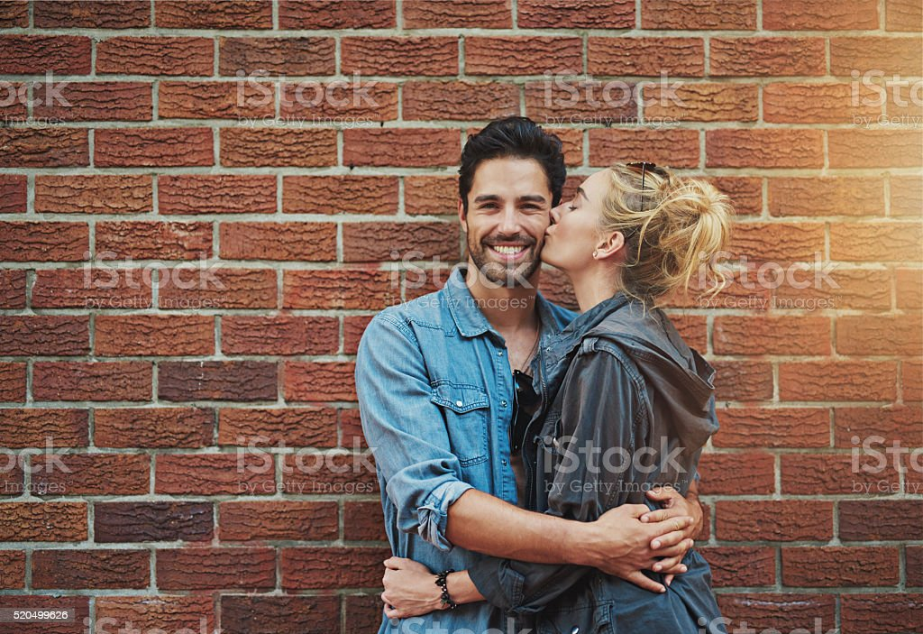 Together is my favourite place to be stock photo
