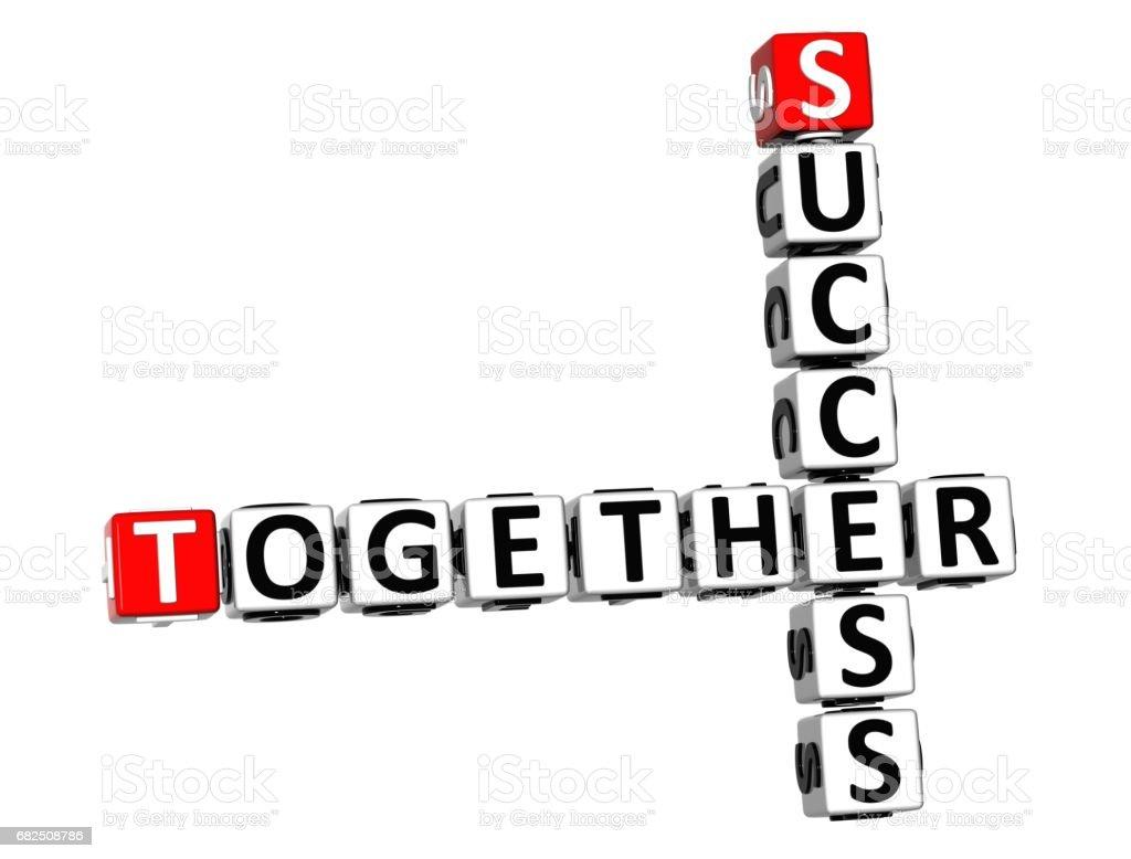 3D Together Success Crossword Стоковые фото Стоковая фотография