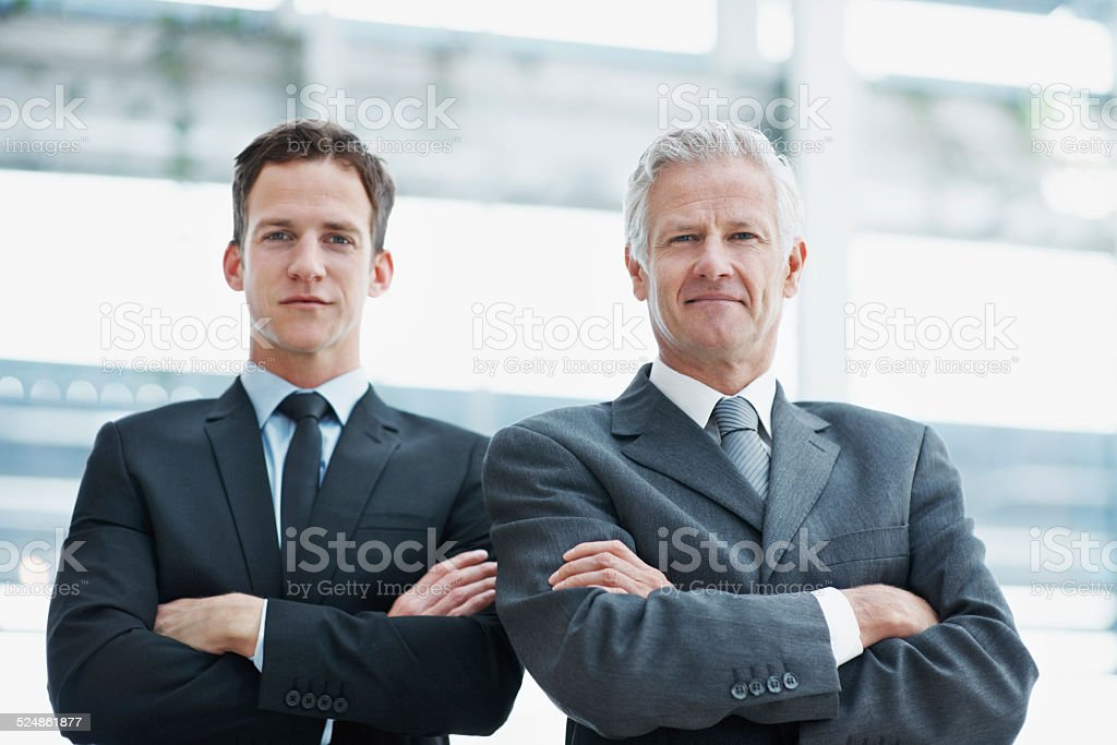 Together they make a powerful partnership stock photo