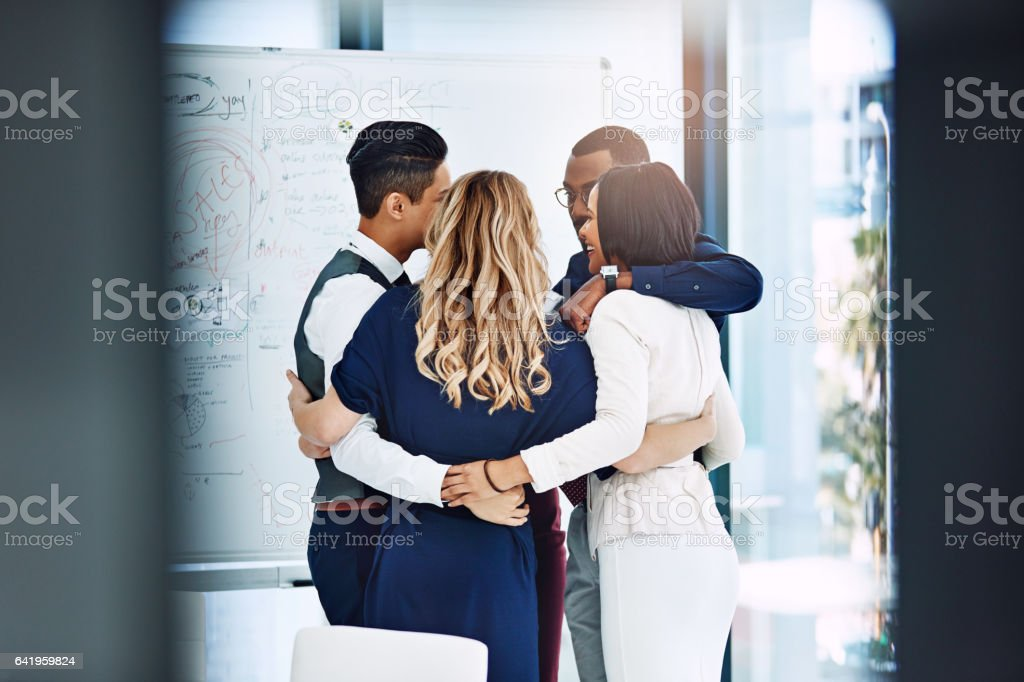 Together we can achieve anything stock photo