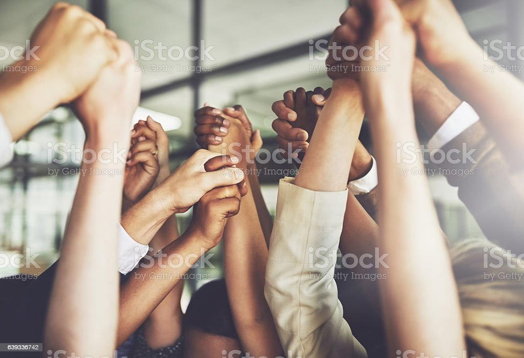 Together we can do anything stock photo