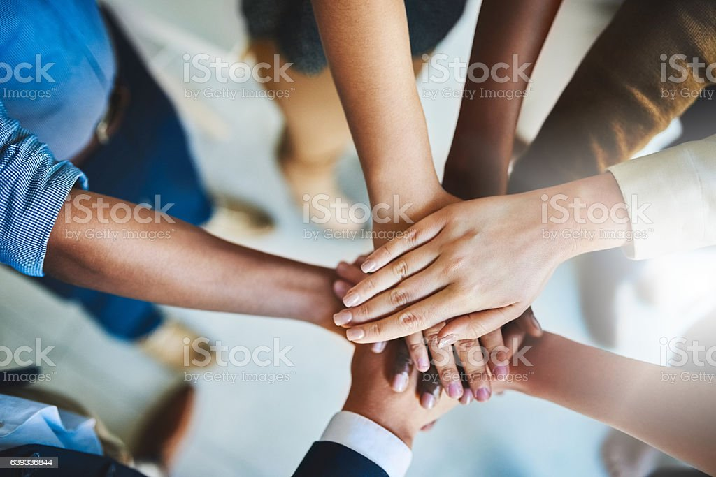 Together we can do great things stock photo